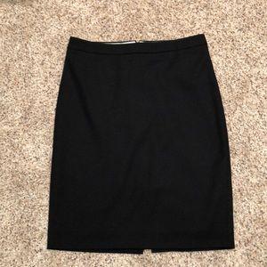 JCrew black light wool pencil skirt